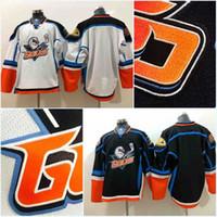 Wholesale blank baseball jerseys black white resale online - Men Ducks San Diego Gulls Jerseys Ice Hockey AHL Blank Jersey Home White Breathable All Stitched