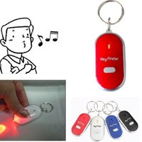 Wholesale Whistle Lost Key Finder Flashing Beeping Locator Remote Keychain LED Ring