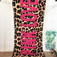 Wholesale shower robes - Love Pink Letter Beach Bath Towel VS summer Women cape Swimming towels gym yoga mat Sports Bathroom Pool Shower Towels Drying Washcloth