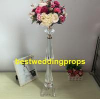 décoration de mariage en perles achat en gros de-Nouveau style acrylique perlé dessus de table lustre centres de table de mariage décorations bes0296