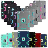 Wholesale armor shockproof ipad mini case for sale - Group buy Safe Armor Shockproof Heavy Duty Silicone PC Stand Cover Case For iPad Air Mini th Gen Pro