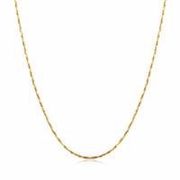 collar de cadena de oro 18kgp al por mayor-Cadena fina fina de mujer para colgante 18KGP Electroplate Gold Rose Gold Silver 0.5mm collares Cadenas Resistencia a desvanecimiento Cadenas