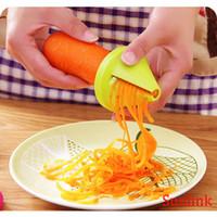 Wholesale slicer dicer grater chopper resale online - Slicer vegetable fruit peeler dicer cutter chopper Kitchen Gadget Funnel Vegetable Carrot Radish Cutter Shred Slicer Spiral Device