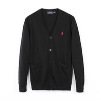erkek düğmeler için tasarım gömlekler toptan satış-Marka Tasarımcısı Polo Hırka Kazak erkek ve kadın Yüksek Kaliteli Giyim Londra New York Chicago Polo Gömlek erkek Düğme Kazak Polo Sh