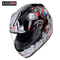 açık kask ls2 toptan satış-LS2 FF358 Klasik Tam Yüz Motosiklet Kask Yarış Casque Kasko Capacete Moto Kaskları Kask Caschi Motor Bike Için