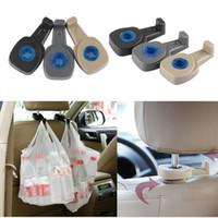 Wholesale patent car - 2PCS LOT 4S-D001 Patent Item 3rd Gen Car Portable Holder Auto Car Holder Hook Seat Headrest Hanger Bag hanger up to 8KG Car Accessories