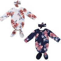 детская спальная сумка с длинным рукавом оптовых-2Pcs Baby Snuggle Swaddling Blanket Newborn Sleeping Bag Swaddle Wrap Toddler Adorable Baby Long Sleeve Floral Sleeping Bags