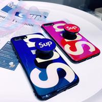 держатели для iphone phone оптовых-Новый держатель телефона Новый дизайнерский чехол для телефона sup Fashion Brand Phone Case с ремнем безопасности для iPhone X 6 6S 6plus 6S Plus 7 8 7plus 8plus