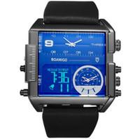 ingrosso orologi quadranti quadranti grandi-Cinturino in pelle da uomo a tre tempi Quadrante grande quadrante orologio cronografo allarme moda uomo F920