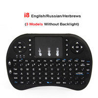 Wholesale pc remotes - i8 2.4G Air Mouse Wireless Mini Keyboard with Touchpad Remote Control Gamepad for Media Player Android TV Box HTPC MXQ Pro M8S X96 Mini PC