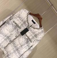 Wholesale fit petite women - women Luxury design Top Quality silk Wool Jacket Petite Ladies Tweed Jacquard women jacket Coat Slim-Fit Long Sleeve O-Neck Trench Coat
