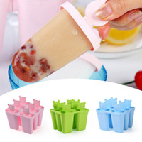 Wholesale Ice Lolly Molds Maker Form DIY Cute Bear Mold Popsicle Molds Yogurt Ice Box Fridge Frozen Ice Cream Tools