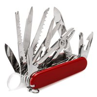 Wholesale knife size online - Onnfang Folding Swiss Pocket Multi Tool Knife Army Suvival Outdoor Camping Multifunction Tool Stainless Steel Pocket Size Hunting knives