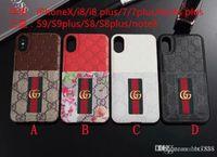 iphone6 plus tpu case al por mayor-Estuche de moda para iPhoneX 7 8 plus Funda de silicona de cuero repujado para iPhone6 6S plus con estuche para Samsung S8 S9 plus.