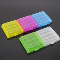 Wholesale Free Plastic Storage Containers - AA AAA 14500 10440 Battery Storage Container Battery Holder Plastic Battery Storage Case Box Carrying Box DHL Free