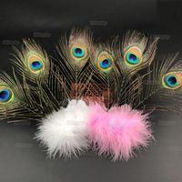 ingrosso ornamento della testa della piuma-Piume Peacock Accessori per capelli Head Wear Photo Puntelli Wedding Dance Show Party Decoration Ornament