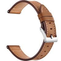 nato watchband оптовых-Leather WatchBand Wrist Straps for Xiaomi Huami Amazfit Bip Youth Watch watchband silicone and watchbands nato strap