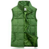 ingrosso giacca invernale-Addensare Autunno Inverno Cotone Gilet Cappotti Gilet Uomo Gilet Youth Plus Size Capispalla Cappotti Gilet Boys Giacche M- 2XL