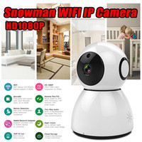 Wholesale wireless cloud camera - Snowman 1080P Cloud WIFI IP Camera Pan&Tilt IR-Cut Night Vision Motion Detection Alarm Monitor