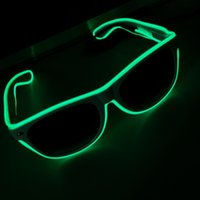 Wholesale Flashing EL Wire Led Glasses Luminous Party Decorative Lighting Classic Gift Bright LED Light Up Party Glasses Party Decor