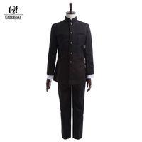 homens uniformes japoneses venda por atacado-ROLECOS Brand New Homens Da Primavera Uniforme Escolar Uniforme Cosplay Japonês Escola Menino Casacos Calças Conjunto de Roupas
