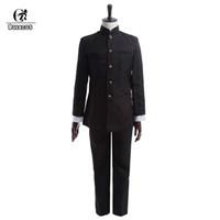 ingrosso ragazzi giacche scolastiche-ROLECOS Brand New Spring Men scuola uniforme Suit Cosplay uniforme scuola giapponese Boy Giacche Pantaloni Set di abbigliamento