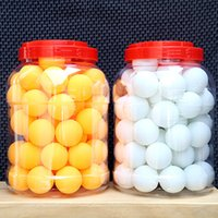 Wholesale plastic training balls resale online - New Training Ping Pong PP Yellow White Ping Pong Ball Game Barreled Table Tennis Plastic Balls mm Safe Toy Balls