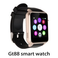 Wholesale Blood Oxygen - GT88 Smart Watch Monitor Bluetooth Smartwatch Support SIM Card Heart Rate Waterproof Smartwatches for IOS Android Phones 770009