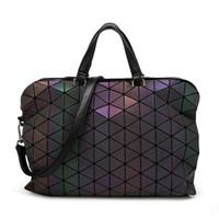 geometri çantası toptan satış-Yeni Japonya aydınlık geometri lazer Bao Bao katlama kadın çanta kadın çanta Casual Tote Bayanlar omuz Messenger çanta kadın