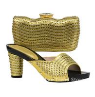 Nuove vendite di arrivo in scarpe da donna e set di borse decorati con  scarpe di design con strass Donne scarpe 2018 di lusso africane 4e9d865cae1