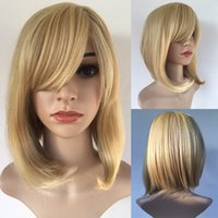 Wholesale Celebrity Heat - Fashion Celebrity Wig For Women Blonde Bob Straight Cheap Synthetic Hair Wigs Female Heat Resistant Wholesale