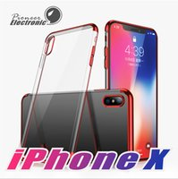 Wholesale iphone protective case - For NEW Iphone XR XS MAX X case soft of TPU Clear case Electroplating Transparent Protective Cover Skin for iPhone Plus Samsung