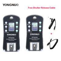 ingrosso yongnuo-Nuovo YONGNUO RF-605 RF605C RF605N Wireless Flash Trigger per Canon Nikon Upgrade Versione di RF-603 II