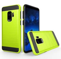 Wholesale ace plus casing - For Samsung Galaxy S9 Plus J1 Ace Mini Prime J2 J3 J3 Pro J5 J7 Case Brushed Armor Rugged Silicone Hard Plastic Phone Back Cover