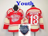 pavel datsyuk jersey classique d'hiver achat en gros de-Factory Outlet, Remise 2014 Hiver Classique Jeunes # 13 Pavel Datsyuk Jersey Enfants Detroit Hockey Jerseys Enfants Rouge Authentic Stitched Jers