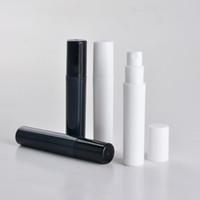 ingrosso atomizzatori di profumo di plastica 5ml-100 pz / lotto 2 ml 3 ml 4 ml 5 ml bottiglia di profumo di plastica spray, piccolo atomizzatore di profumo nero campione di promozione