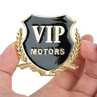 Wholesale vip stickers - New Sticker car styling 2pcs 3D Metal Car Stickers VIP Labeling Car Decorator Sticker Emblem Badge Decal hot sale