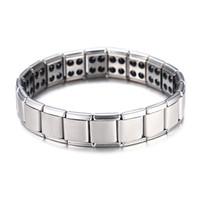 magnetische schmuck für männer großhandel-Heißer Verkauf Energy Magnetic Health Armband für Frauen Männer Gesundheit Stil versilbert Edelstahl Armbänder Geschenke Modeschmuck Großhandel