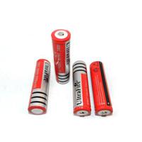linternas aa al por mayor-Batería Recargable Ultrafire 18650 Batería de iones de litio 3.7V 4200mAh Recargable para LED Antorcha Linterna Cámara digital Bicicleta LED Faro