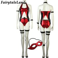 Wholesale deadpool costume adults for sale - Halloween Sexy Costume Evening Party Catwoman Costume for adult Women Deadpool unicorn sexy Spandex Jumpsuit with tail