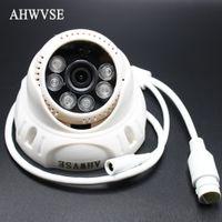 Wholesale dome camera audio - AHWVSE IP Audio POE 2MP Camera H.264 IP Camera with microphone 1080P 960P 720P Mini Dome CCTV Indoor ONVIF P2P