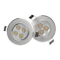 ev güç kaynakları toptan satış-Kısılabilir 9W 12W Led Işıklar Led Gömme Tavan Işıkları AC 110-240V Güç Kaynağı ev aydınlatması ile Beyaz / Gümüş İç Aydınlatma