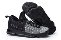 Wholesale Kd Prices - KD 9 Oreo White Basketball shoes 2017 Top Quality new KD 9 sneakers Store Wholesale prices free shipping us 7-12