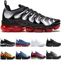 huge selection of e800c c6eaf blanco negro zapatos tenis al por mayor-Nike Air Max Vapormax TN Plus Airmax  the