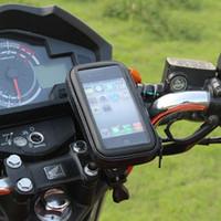 bisiklet için destek toptan satış-Bisiklet Bisiklet Motosiklet Cep Telefonu Tutucu bisiklet çantaları Telefon Iphone GPS Tutucu Su Geçirmez Moto Çanta kılıf Için Destek Standı