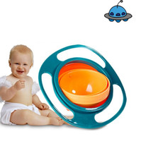 Wholesale toys dishes resale online - NEW Practical Design Children Kids Baby Toy Universal Rotate Spill Proof Bowl Dishes Kids Eating Training Gyro Bowl