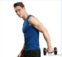 ingrosso gilet di allenamento sportivo-Gilet sportivo serie fitness corsa allenamento veloce asciutto traspirante semplice solido selvaggio