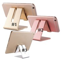 Wholesale tablets retail online - Universal Aluminum Metal Mobile Phone Tablet Holder Desk Stand for cell phone with Retail package