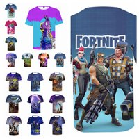 Wholesale 3d t shirt women - 17styles Fortnite Game Print 3D T-shirts Men Women game Short Sleeved Tops Tee o-neck Funny Casual fashion tee FFA466 12pcs