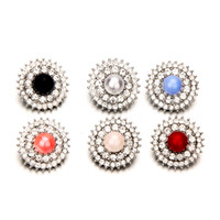 colar de cristal opala venda por atacado-Noosa Opal Pedra 18mm Botão Snap Jóias Pérola Beads Snap Cristal Chunks Charme DIY Gengibre Botão Pulseira Colar Boemia Achados